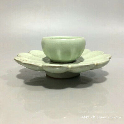 Marked China Ancient Official kiln Porcelain Pottery Bowl Tea cup glass LWJ
