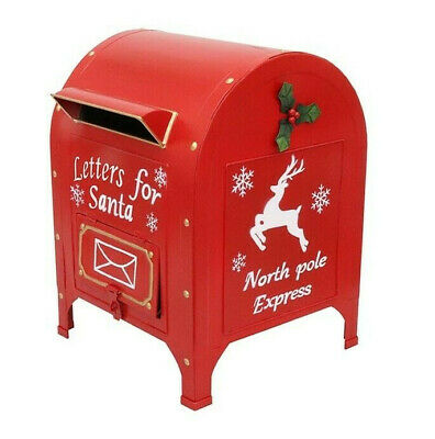 XMAS METAL HAND PAINTED PRIMUS LETTERS FOR SANTA MAILBOX - 28.5 x 27 x 35.5cm