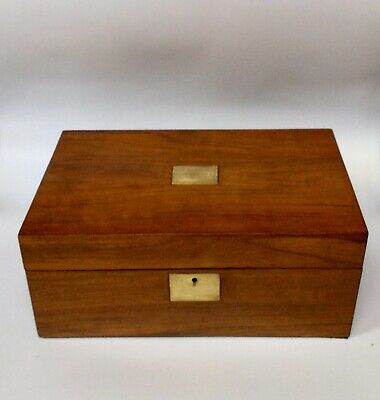 Antique Wooden Writing Box/Slope Stationery Box Ipad Box