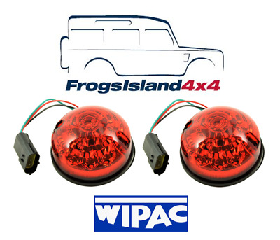 Land Rover Defender Pair of Rear Stop Brake Light Lamps to 94 WIPAC OEM