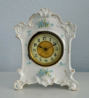 Hard to find antique Crown Devon bedroom clock for repair or spare parts