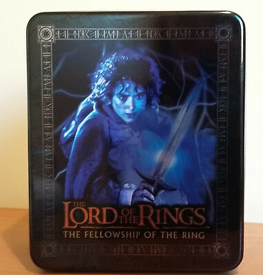 LOTR FELLOWSHIP OF THE RING 2003 COLLECTIBLE ACTION FLIPZ TIN UK FRODO -no cards