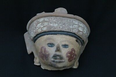 A VERACRUZ TOLOME HEAD c. 600 - 900 AD  Authenticated Pre Columbian Ceramics