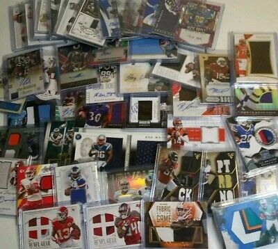 Football SUPERSTOCK Football Card Grab Bag 12 Card Lot Stars 3 Jersey/Auto Cards