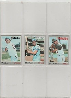 1970 Topps Baseball Pick-5 To Complete Your Set Or Team Set  Near-Mint Condition