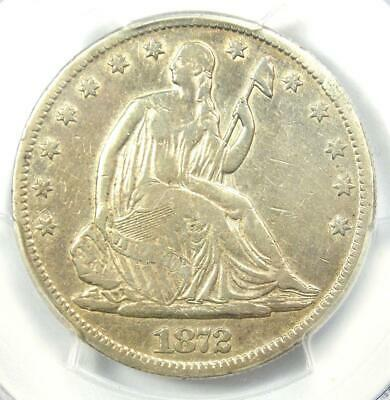 1872-CC Seated Liberty Half Dollar 50C Coin - Certified PCGS VF Details!