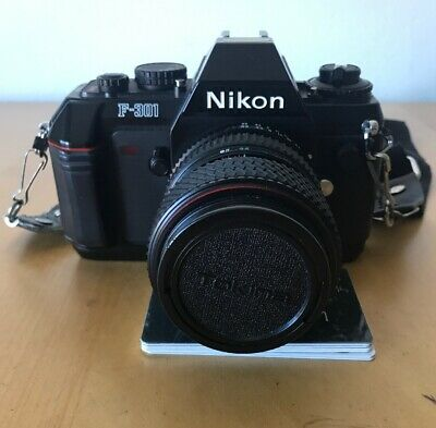 Nikon F-301 SLR 35mm Film Camera With Tokina SD 28-70mm 1:3.5-4.5 Lens