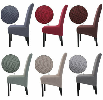 4pcs Chair Covers Washable Knit Stretch Removable Chair Slipcovers High Back