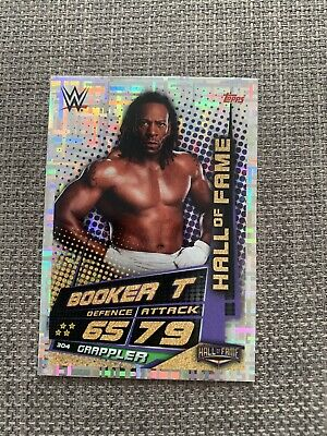 WWE Slam Attax Universe Booker T Hall Of Fame Foil Collectors Card WWF