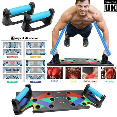18/9 in1 Push Up Rack Board System Fitness Workout Train Exercise Pushup Stands