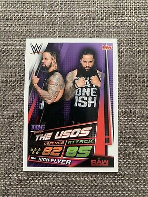 WWE Slam Attax Universe The Usos Collectors Card WWF Jey Jimmy Uso Tag Team