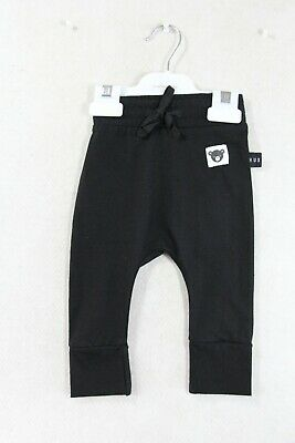 Baby Boy Size 000,00,0,1 Huxbaby Black Drop Crutch Pant NWT