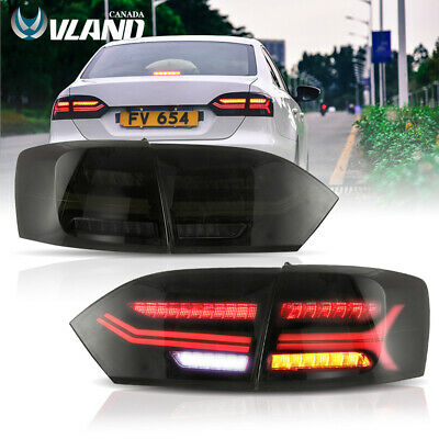 Smoked Full LED Sequential Tail Light Fit For 2011-2014 VW Volkswagen Jetta MK6