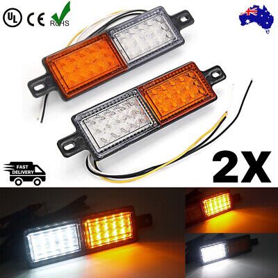AU 2x LED Front Park / clear amber Indicator & DRL Lights For ARB & TJM Bullbar