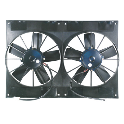 """Dual 11"""" 12V Electric Thermo Fans: Race Series 2800CFM"""