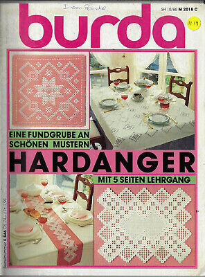 Burda Hardanger Special E846 embroidery German Language only