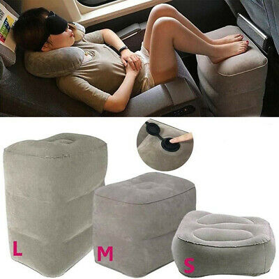 Inflatable Travel Footrest Leg Foot Rest Air Plane Pillow Pad Kids Bed Portable