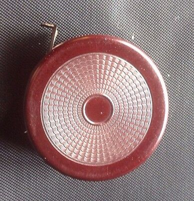 Vintage Retractable Measuring Tape in Bakelite Holder, Made in Germany