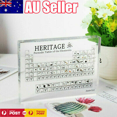 Periodic Table Display with Elements Acrylic Student Teacher Desk Ornament AU