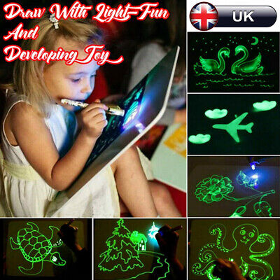 Draw With Light Fun & Developing Toy Drawing Board Magic Draw Educational Gift
