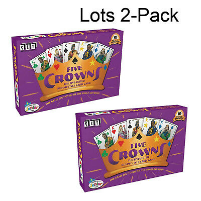 2Pcs Five Crowns Card Game 5 Suites Classic Original Family Party Rummy