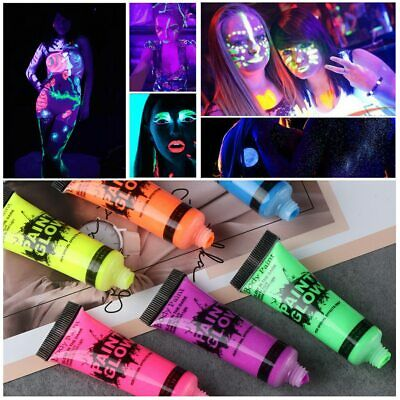 Halloween Face Body Art Paint Neon Fluorescent Party Festival Cosplay Makeup IL