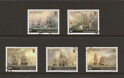 1986 Guernsey, Admiral Lord De Saumarez, Fine Used Set of Stamps, SG 360-4