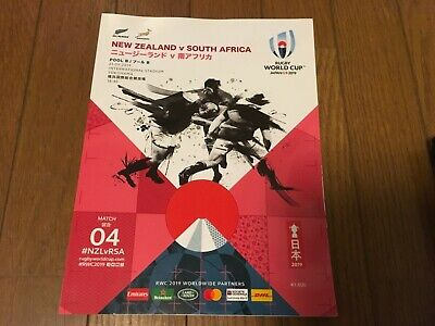2019 RUGBY JAPAN WORLD CUP OFFICIAL PROGRAMME MATCH4 NEW ZEALAND vs SOUTH AFRICA