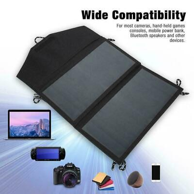14W 5V Foldable Solar Panel Portable Outdoor Camping Charger USB Battery Ca J9Z9