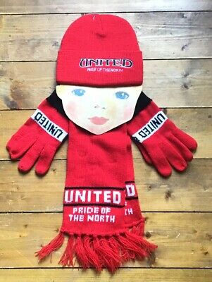 Manchester United FC. Hat, Scarf And Gloves. BNWT. One Size.