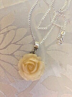"💜BREAST MILK ROSE Pendant ( Natural)💜ONE+ 24"" 925 Chain  /(see Del Time)"