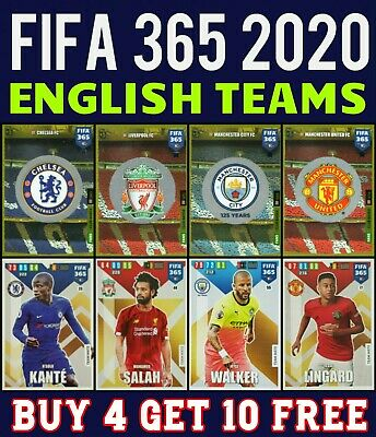 Adrenalyn Xl Fifa 365 2020 Chelsea Liverpool Manchester City Man Utd Cards