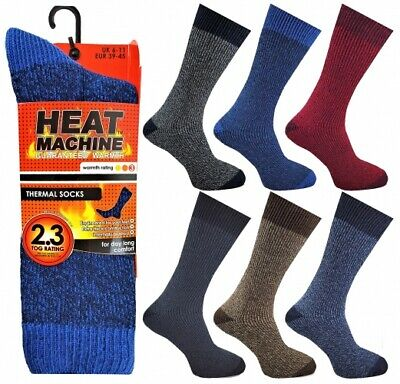 12 Pairs Men/'s Adults Heat Control Thermal 2.3 Insulated Work Boot Socks 6-11