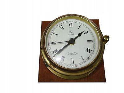 Ship Clock On Quartz Sovaernet Denmark /6083