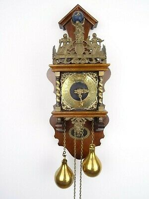 Zaanse Dutch Vintage Antique Wall Clock (Warmink Hermle Junghans Era)