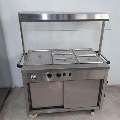 Commercial Hot Cupboard Bain Marie Carvery Trolley HC BMWHC3