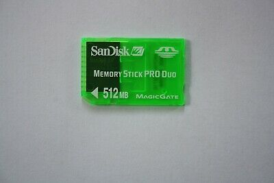 SANDISK 512MB Memory Stick Card Pro Duo PSP Magic Gate. FULLY WORKING