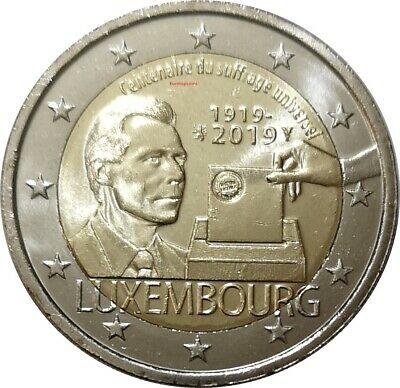 #RM# 2 EURO COMMEMORATIVE LUXEMBOURG 2019 - Universal Suffrage