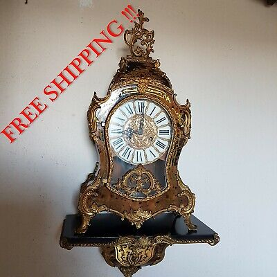 0259 - Boulle clock with console