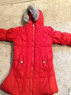 Hawke And Co Jacket Girls Toddler 4 4T Red Zippered Hooded Coat