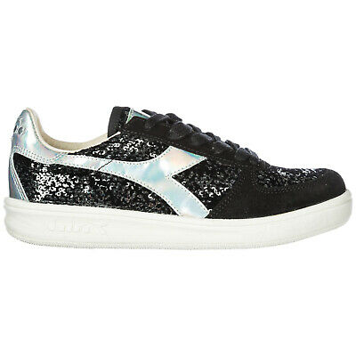 DIADORA WOMEN'S SHOES Leather Trainers Sneakers New B. Elite
