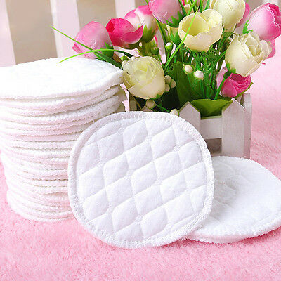 12Pcs Soft&Reusable Nursing Breast Pads Washable Absorbent Baby Breastfeeding