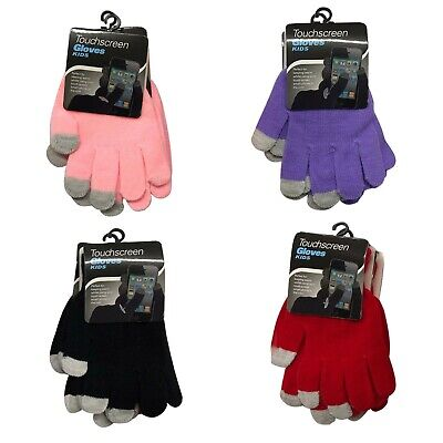 3 Pairs Kids Touch Screen Winter Knitted Boys Girls Smart Phone Tablet Gloves