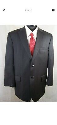 Jos. A. Bank Suit Black Wool 2 Button 43R Waist 34/30 full suit Jacket And Pant