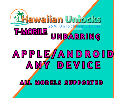 T-MOBILE USA IMEI Unbarring PREMIUM SERVICE *EIP SUPPORTED* 7-12 DAYS-OVERLOADED