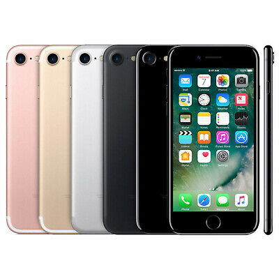 Apple iPhone 7  32GB 128GB 256GB Smartphone Unlocked Black Rose Gold Silver GSM