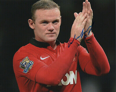 WAYNE ROONEY Signed 10x8 Photo MANCHESTER UTD & ENGLAND COA