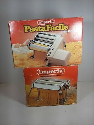 Imperia Italy Pasta Maker W/ Electric Motor & Attachments Hardly Used