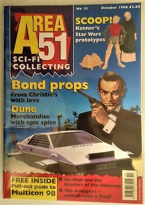 Area 51 SCI-FI Collecting UK Magazine Issue #10 October 1998 Star Wars James Bon