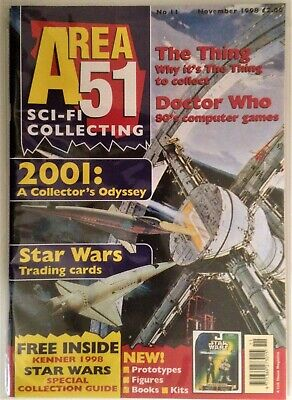 Area 51 SCI-FI Collecting UK Magazine Issue #11 November 1998 Star Wars 2001